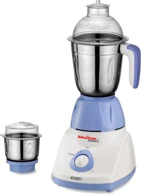 Khaitan Avaante MG Eden(550 W)Mixer Grinder with 2 Stainless Steel jars (Blue)