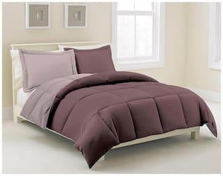 Kiaana Brown And Beige Reversible Polyester Bedspread