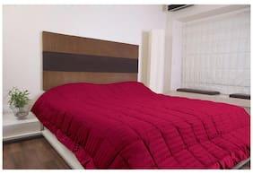 Kiaana Magenta Self Stripes Polyester Bedspread