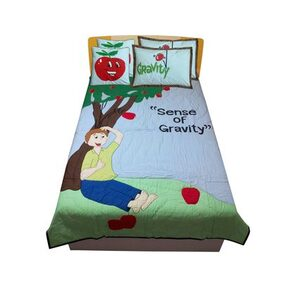 Hugs'n'Rugs Cotton Embroidered Single Size Bedding Set
