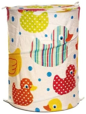 Kids Mandi Polyester Assorted Laundry Basket ( Set of 1 )
