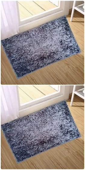 Kihome Microfiber Door Mat  (Grey, Grey, Medium)