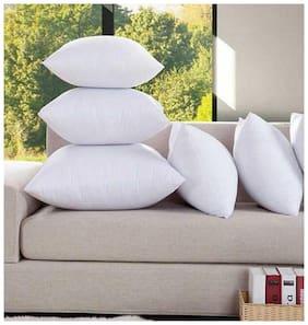 Kihome Plain Fiber Filler Cushion Pillow( For Back Sofa & Chair ) 16x16 inch ( Set of 5 )