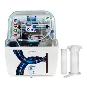 Kinsco Aqua Zing 15 Litre RO+UV+UF+TDS Adjuster Water Purifier