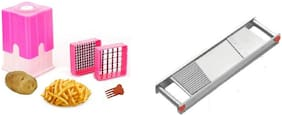 Kitchen combo with Stainless Steel Vegetable Grater and Slicer with Sharp Blade 2 In 1 Vegetable Slicer