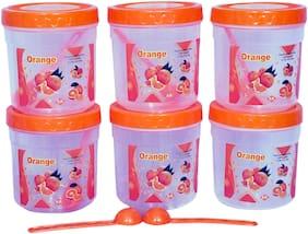 VJ 1500 ml Assorted Plastic Container Set - Set of 6