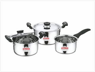 Buy Kitchen Essentials 5 Pcs Shimmer Stainless Steel Cookware Set
