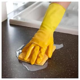 KITCHEN GLOVES HOUSEHOLD PROTECTOR HAND GLOVES WASHING CLEANING WASHROOM