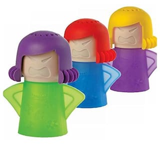 A 1 TOP Kitchen Tool Metro Angry Mama Microwave Cleaner (Multicolour) Pack Of 3