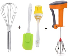 ABLEGATE Plastic & Silicone Assorted Kitchen Tool Combos ( Set of 4 )
