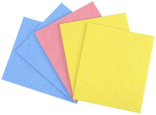"Kitchen Wipe, Pack of 5, 100% Biodegradable Cellulose Wiping Sponge (21"" X 17"" cm)"