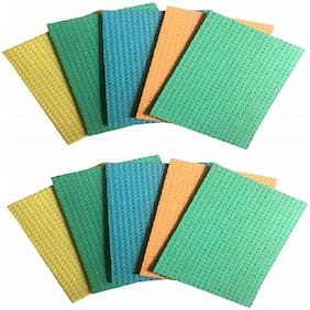 """Kitchen Wipe, Pack of 10, 100% Biodegradable Cellulose Wiping Sponge (21"""" X 17"""" cm)"""