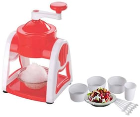 Kitchenware Personal Use Manual Gola Maker with Slush Maker and Ice Crusher (Multi Color) 1Pc