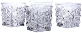 Kittens Pyramid Crystal Bar Glasses;350ml;Set Of 4;Clear