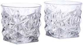 Kittens Pyramid Crystal Bar Glasses;350Ml;Set Of 2;Clear