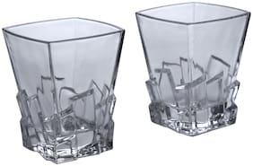 Kittens Square Shaped Bar Glasses;260ml;Clear;Set Of 2