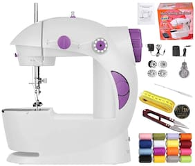 Kiwilon Sewing Machine for Home Use Tailoring with Foot Pedal, Adapter, Thread Spools, Thread Cutter, Measuring Tape, Needles Set and Bobbins