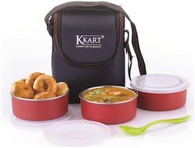 Kkart Blue & Red Lunch box ( Set of 1 , 250 ml )