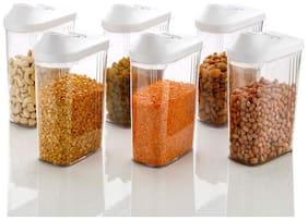 Kkart 1100 ml Transparent Plastic Container Set - Set of 6
