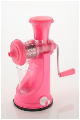 Kkart Royal Round Fruit & Vegetable Manual Juicer: Pink