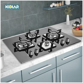 Kkolar 4 Burner Automatic Hobs Black Gas Stove ,