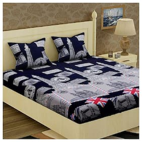 KOHINOOR 1 PCS. SOFT COTTON BEDSHEET & 2 PILLOW COVERS (90*100 INCH FULL SIZE)
