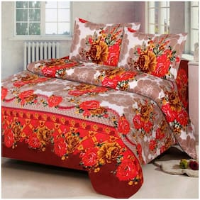 Kohinoor  Specifically Summer Double  Bedsheet 1 .soft cotton bedsheet & With 2 pillow cover (Multi)