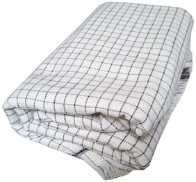 Kohinoor Cotton Checkered Single Size Bedsheet 200 TC ( 1 Bedsheet Without Pillow Covers , Multi )