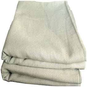 Kohinoor Cotton Printed Single Size Bedsheet 250 TC ( 2 Bedsheet Without Pillow Covers , Cream )