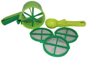 Konvex Strainer Green Atta Shifter Kitchen Tool Set