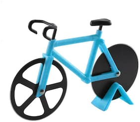 Kookee Bicycle Shape Pizza Cutter - Blue/Black