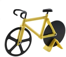 Kookee Bicycle Shape Pizza Cutter - Yellow/Black