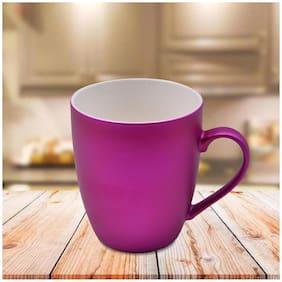 Kookee Ceramic Coffee Mug;Metallic Finish;Pink - 325ml (R4850B) (Set of 2)
