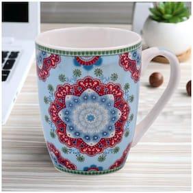 Kookee Ceramic Coffee Mug;Printed Multi Pattern - 325ml (3403G-B) (Set of 2)