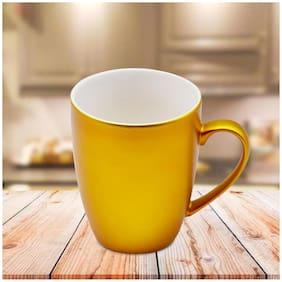 Kookee Ceramic Coffee Mug,Metallic Finish,Golden - 325ml (R4850B)