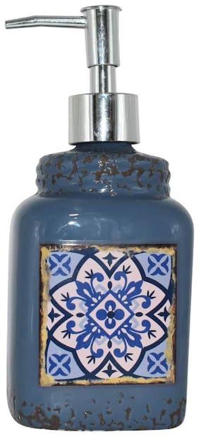 Kookee Ceramic Bathroom Liquid Soap Dispenser;Designer Blue Print