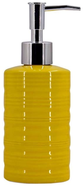 Kookee Ceramic Liquid Soap Dispenser,Cylinder