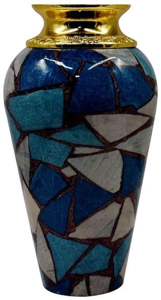 Kookee Designer Metal Flower Vase For Home Decoration -Multi