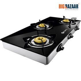 Koryo By Big Bazaar KGT3BGB Grand 3 Burner Gas Stove