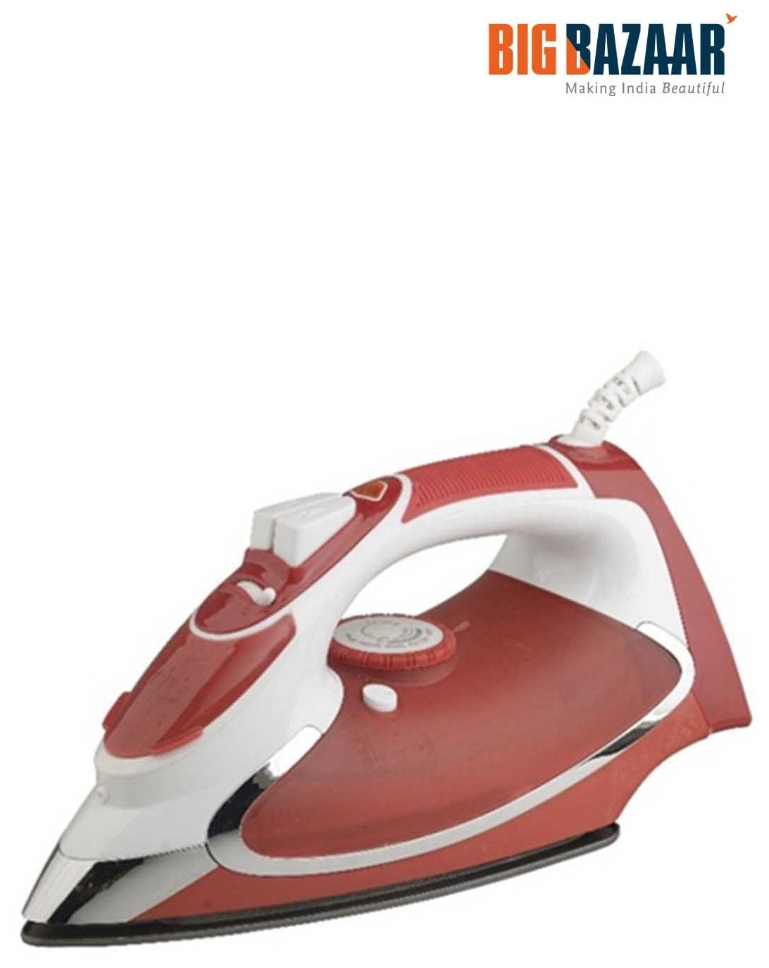 Koryo By Big Bazaar Steam Iron KSW 37X Red