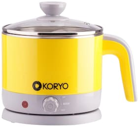 Koryo (KEK125CSY)  Electric Kettle (Yellow &  Grey)