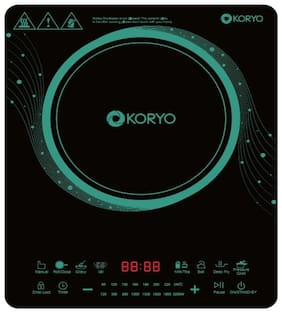 Koryo KIC28SPD 2000 W Induction Cooktop ( Black , Touch Panel Control)