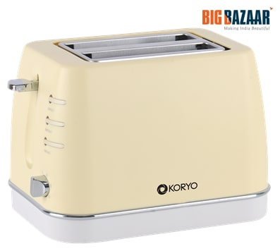 Koryo KPT1367BCY Pop Up Toaster (Yellow)