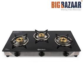 Koryo By Big Bazaar KGT3BGB Grand 3 burner  Glass Top  Gas Stove