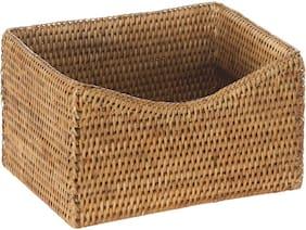 "KOUBOO 1060079 La Jolla Rattan Organizing and Shelf Basket, 9.75"" x 8"" x 5.5"","