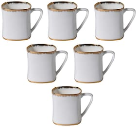 Kraftmania Ceramic Cups for Kitchen Serving Cup Set in 130 ml