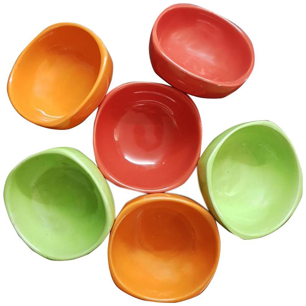 Kraftmania Ceramic Serving Peanuts Bowl Multicolour Set of 6