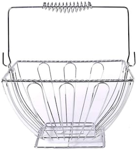 Kraftmania Stainless Steel Square Vegetable and Fruit Basket for Kitchen & Dinning Table
