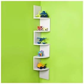 Kraftstics Beautiful Wall Shelf ( Number Of Wall Shelf 5 White)