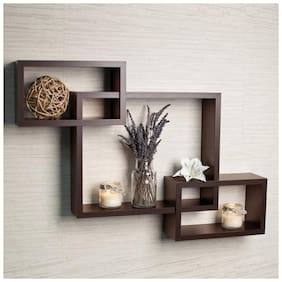 KraftStics Wooden Attach Wall Shelf ( Number Of Shelf 3 Brown)